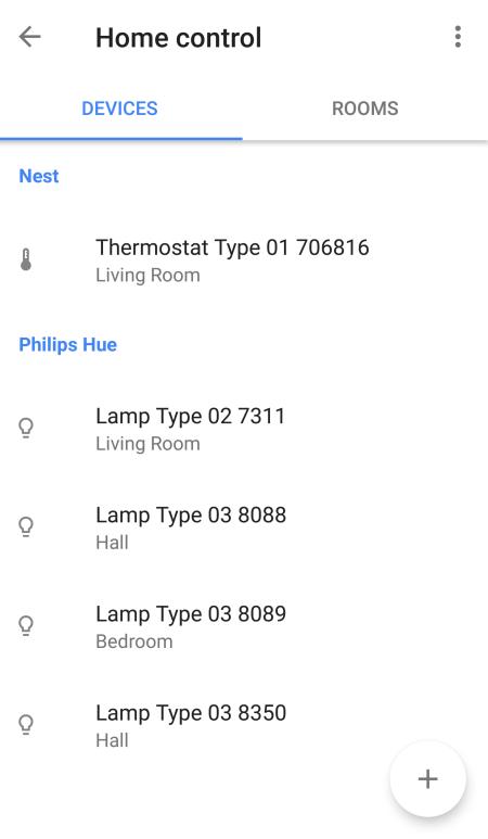 GoogleHome UI